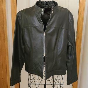 Olsen Leather 2 way zipper jacket